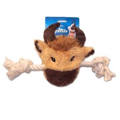 My M8s Plush Buffalo Head Interactive Dog Chew Toy