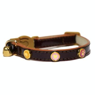 Rosewood Charm / Badge Cat Collar