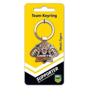 Creative Keys NRL Team Logo Key Ring - Wests Tigers