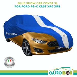 X-Large Washable Blue Show Car Cover for Ford FG-X XR6 TURBO XR6 XR8 Non-Scratch