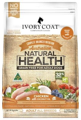 IVORY COAT Grain Free Dry Dog Food Adult Chicken & Coconut Oil 13kg