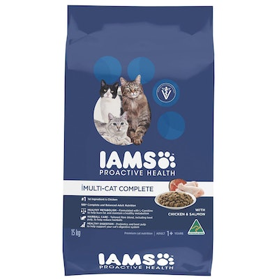 Iams Cat Adult 1+ Multi Cat Complete with Chicken & Salmon - 3 Sizes