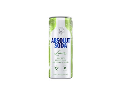 Absolut Lime & Soda Can 250mL