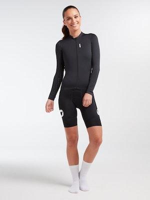 Black Sheep Cycling Women's WMN Long Sleeve LuxLite Jersey - Stealth Black
