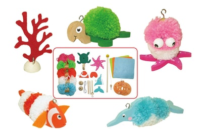 Kaper Kidz DIY CRAFTS-FISH POM POM SET