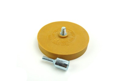 "4"" Caramel Wheel Pinstripe Eraser with Arbour"