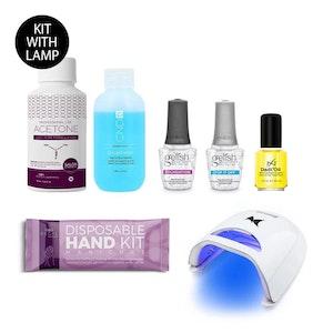 DIY Gel Manicure Kit + LED Lamp | Seven-Piece Salon Essential Nail Set