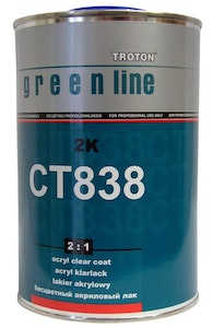 Troton CT838 MS 2:1 Clear Coat 1Lt with Hardener