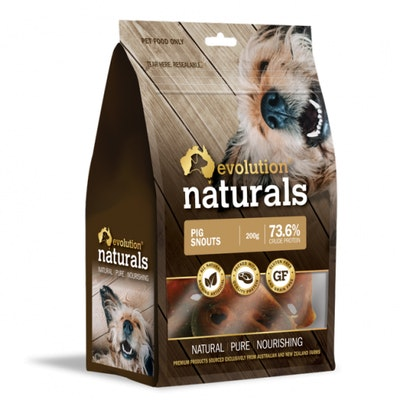 EVOLUTION NATURALS Pig Snout Dog Treats 200G