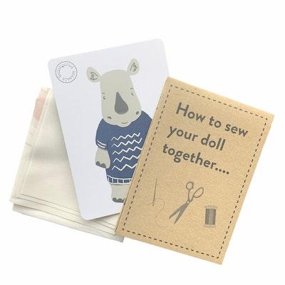 Karen Erasmus Designs Sew Together Doll – Rhinoceros