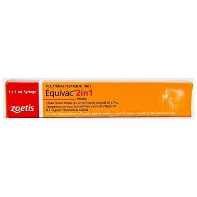 Equivac 2 In 1 Tetanus & Strangles Vaccine Single Dose Syringe
