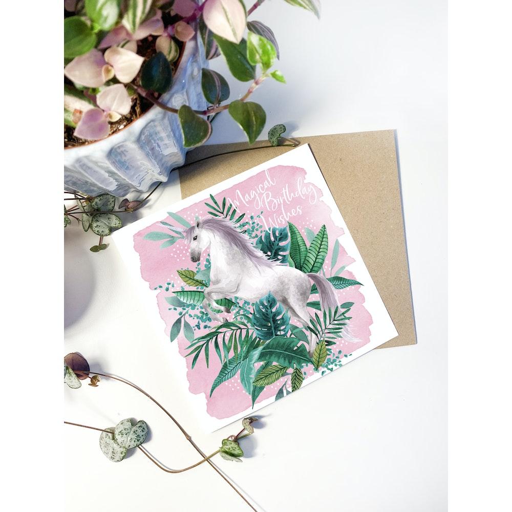 Laura Elizabeth Illustrations Unicorn Greetings Card