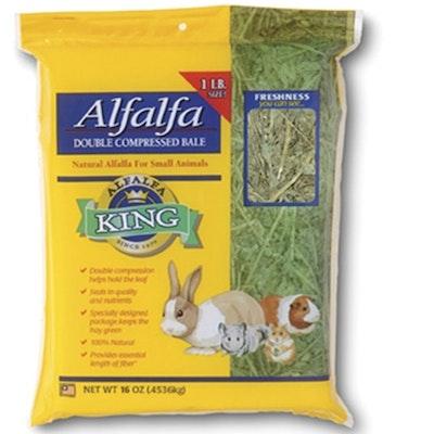 Alfalfa King Alfalfa Hay Natural Food for Small Animals - 2 Sizes