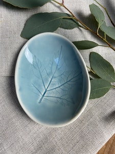 Ceramic Botanical Egg Shaped Dish small