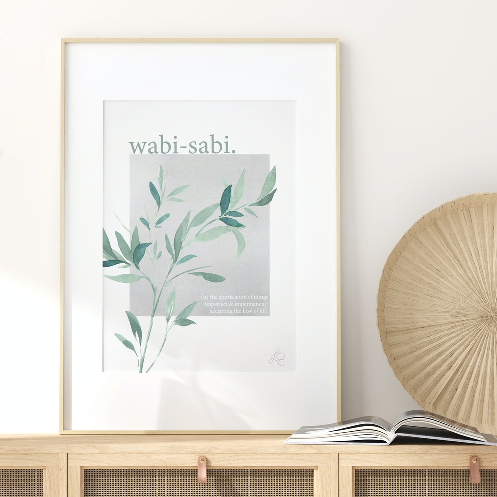 Laura Elizabeth Illustrations Wabi-sabi Fine Art Print