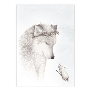 The Winter Wolf  Print - A4