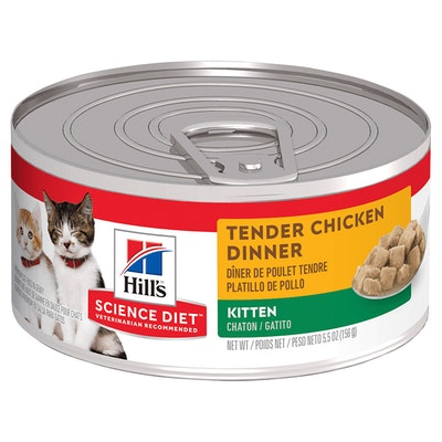 Hills Kitten Wet Cat Food Tender Chicken Dinner 24 x 156g
