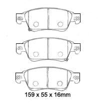 EBC REDSTUFF FRONT BRAKE PADS for NISSAN Nissan Skyline CV36 370GT/GTP 2007-2008
