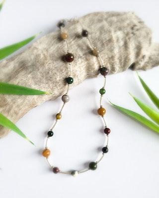 Uniqu-Lea Yours Colourful Indian Agate Necklace