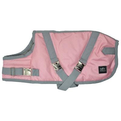 Zeez Supreme Waterproof Dog Coat Flamingo Pink/Grey - 12 Sizes