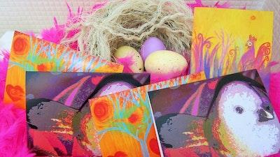Diilhami Art Birdie Love 5 Card Pack