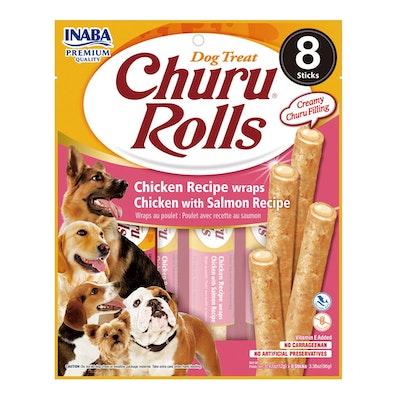 INABA Churu Rolls Dog Treat Chicken w/ Salmon 6 x 96g
