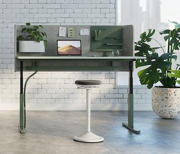 PRE ORDER - Interchange Desk (Sit to Stand) - Executive Silver Spec