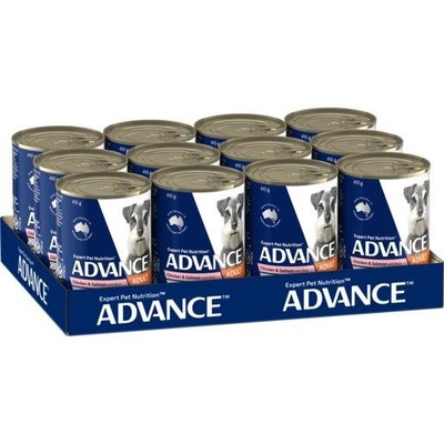 Advance Wet Dog Food Adult Chicken And Salmon 12x400g