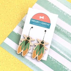 In the Garden Cicada Hoop Earrings