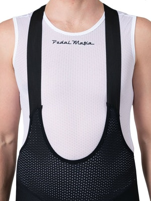 Pedal Mafia Mens Base Layer - White Sleeveless