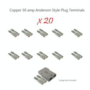 20 x 50 amp Anderson Plug Copper Terminals