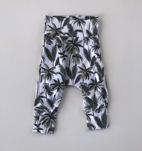 Tropical Palm Harem Pants