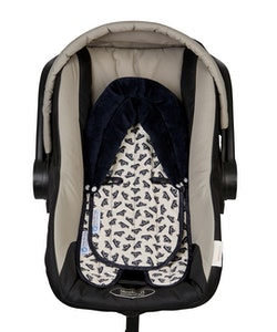 Keep Me Cosy™ Baby Head Support for Car Seat, Pram or Strollers (Twin Pack) - Navy Boat