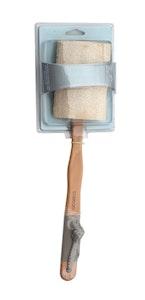 Basic Care Dual Loofah Back Brush with Detachable Handle 41cm