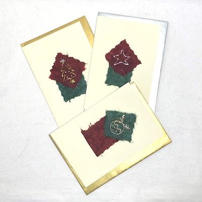 Karhina Seasonal Silk Christmas Greeting Card