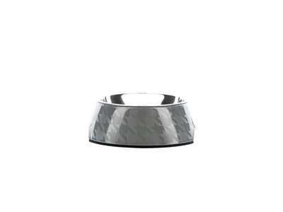 Houndztooth Houndz Dog Bowl - Chic Silver
