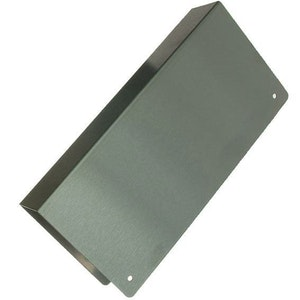 BDS Blank Stainless Steel Wrap Around Cover - Lock Reinforcing Scar Plate - Suits 35mm Doors