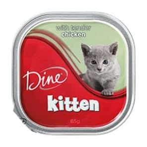 Dine Kitten Tender Chicken Wet Cat Food 85G