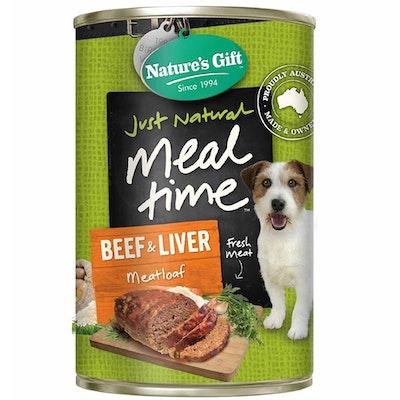 NATURES GIFT Beef Liver Meatloaf Dog Food 12 x 700g