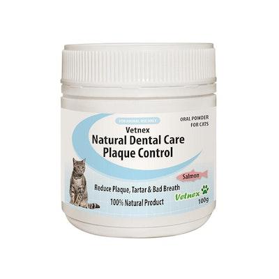 VETNEX Natural Dental Care Plaque Control Powder For Cats - Salmon  100G