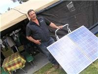Solar feed for battery power Complete Campsite
