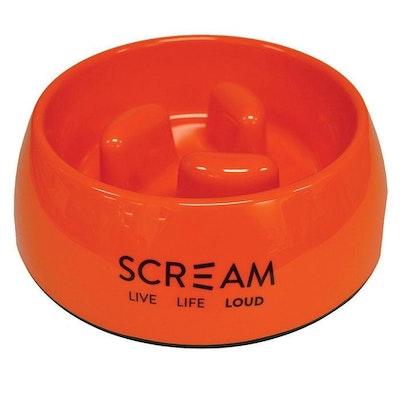 ScreamPet Scream Round Slow-Down Pillar Dog Bowl Loud Orange - 3 Sizes