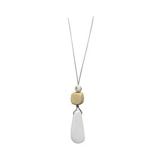 White Resin Saber Necklace