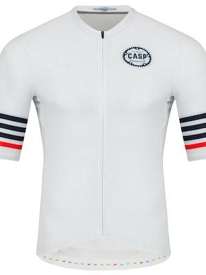 Casp Performance Cycling Mix n Stripes Jersey White