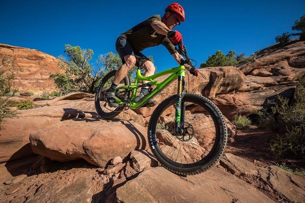 Ibis cycles downhill rock garden