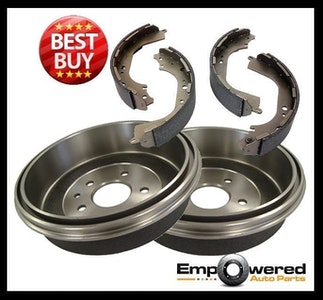 REAR BRAKE DRUMS + SHOES for Toyota Hilux 4WD LN164 172 190 Series 8/1997-4/2005