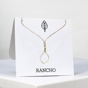 Raised Oval Pendant Necklace
