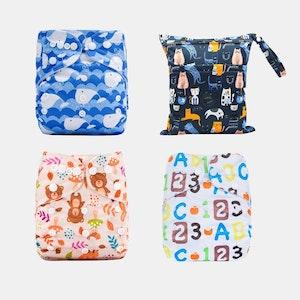 Ekoroo Reusable Cloth Nappy Bundle - SET B