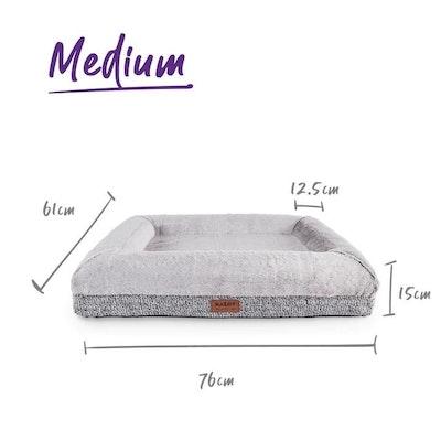 Kazoo Dog Bed Wombat Plush Grey