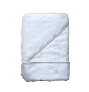 Hooded Towel - Spots & Stars - PALE GREY
